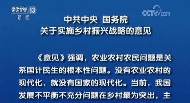 中共中央 国务院关于实施乡村振兴战略的意见