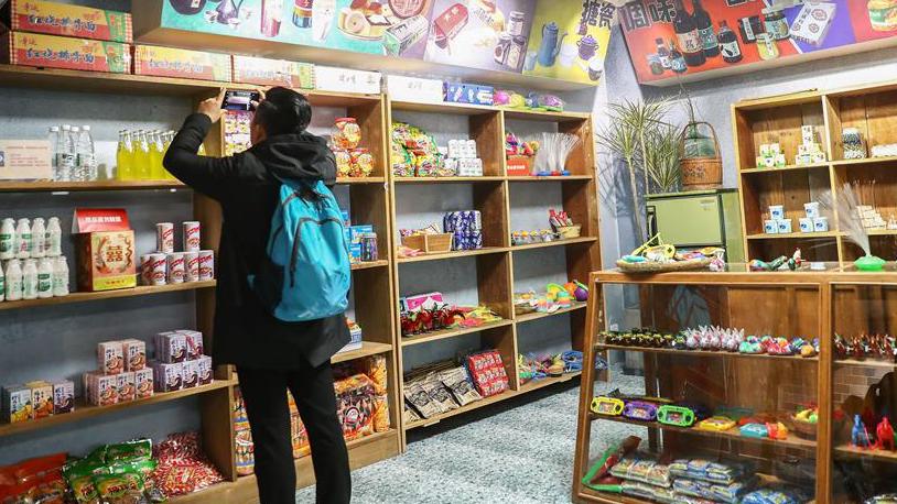 """""""伟大的变革——庆祝改革开放40周年大型展览""""上的""""杂货铺"""""""