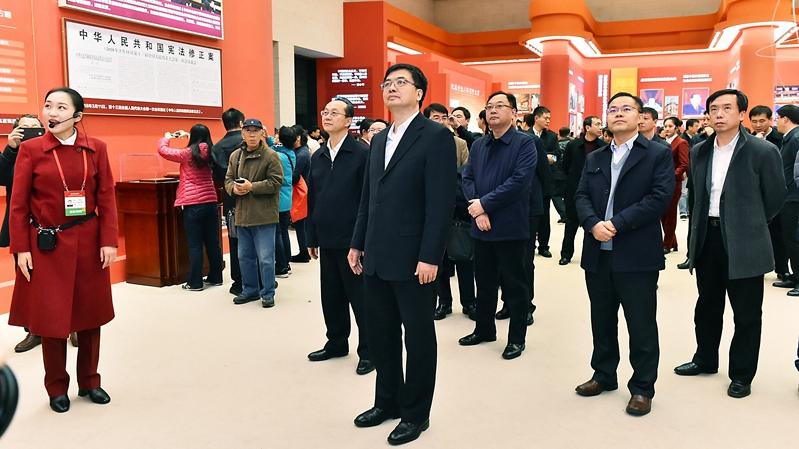 """雄安新区干部集体参观""""伟大的变革——庆祝改革开放40周年大型展览"""""""