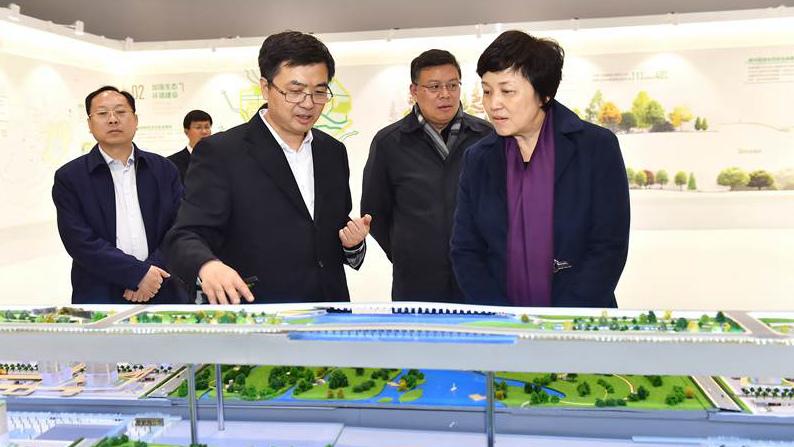 清华大学党委书记陈旭一行到雄安新区考察