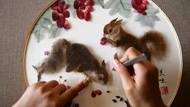 叶雕画——以树叶为原料的手工技艺