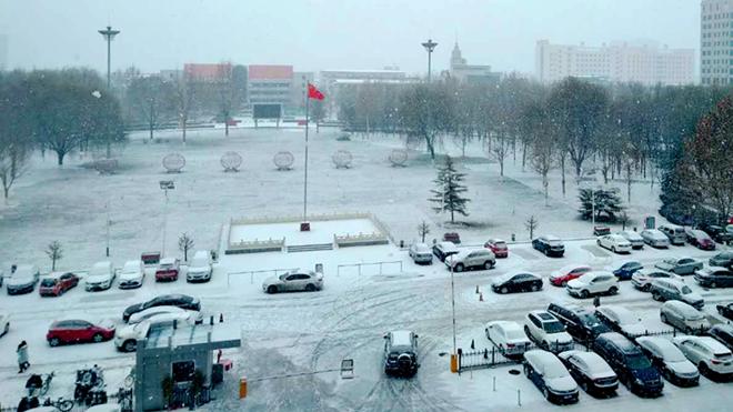 瑞雪兆雄安!新区迎来2018年入冬来第一场大雪