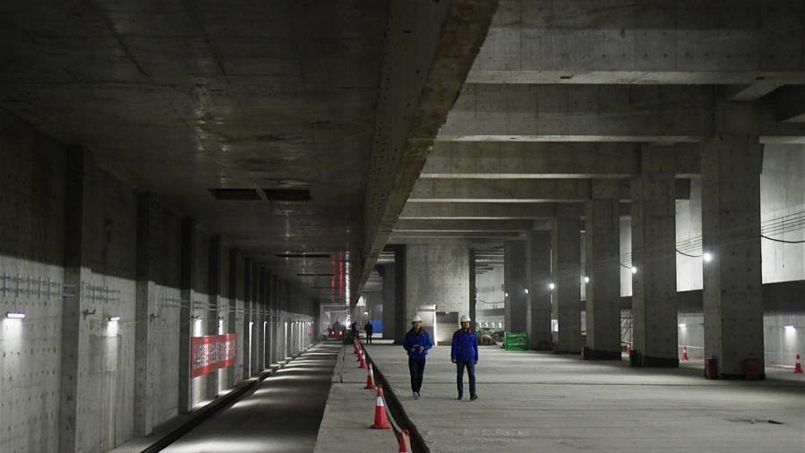 京雄城际铁路北京新机场站主体工程完工