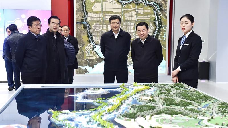 国务院国资委党委书记郝鹏一行到雄安新区调研