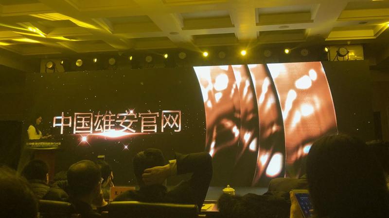 """中国雄安官网荣获""""最具影响力新媒体""""奖"""
