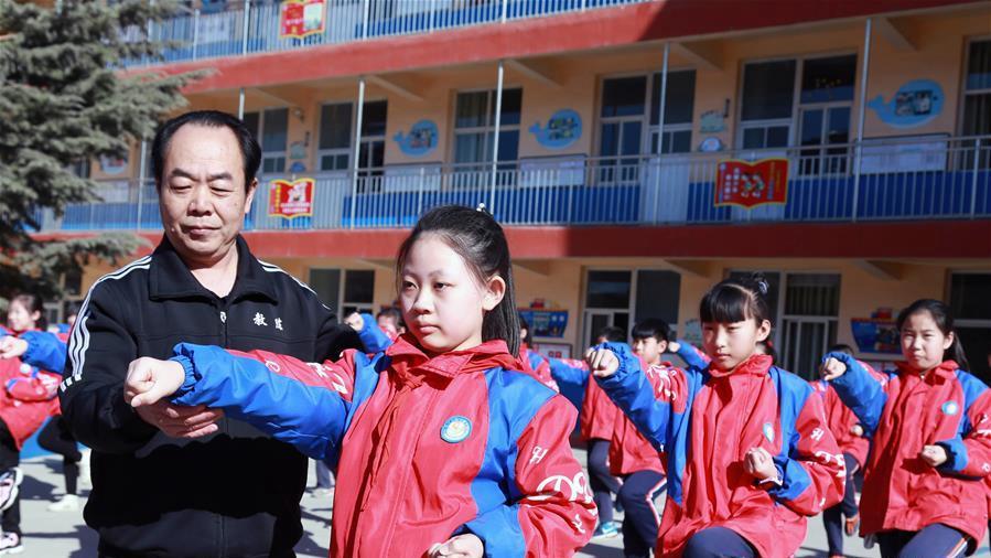 河北邢台:非遗武术进校园