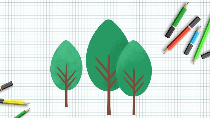 植树节|今天教你画各种树,超简单!