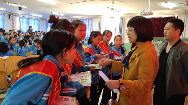 雄县疾控中心结核病防疫知识宣讲进校园