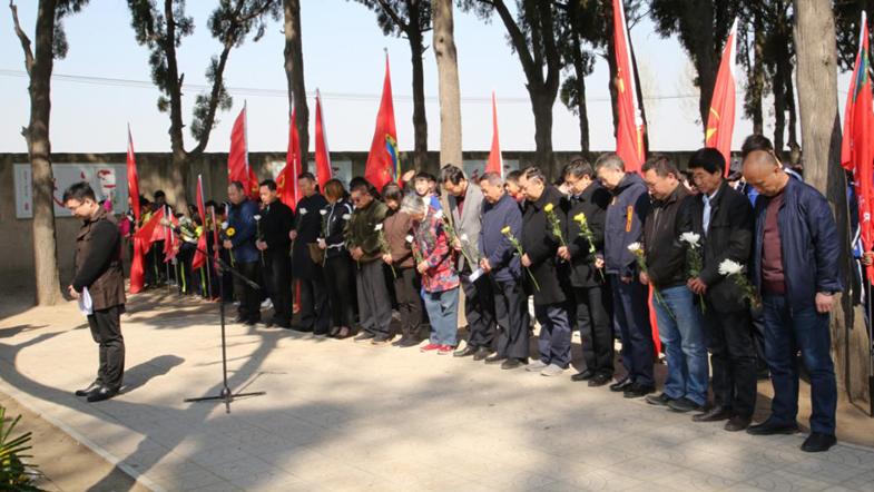 雄安新区容城县举行清明节祭奠活动