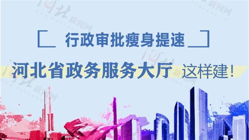 行政审批瘦身提速 河北省政务服务大厅这样建!