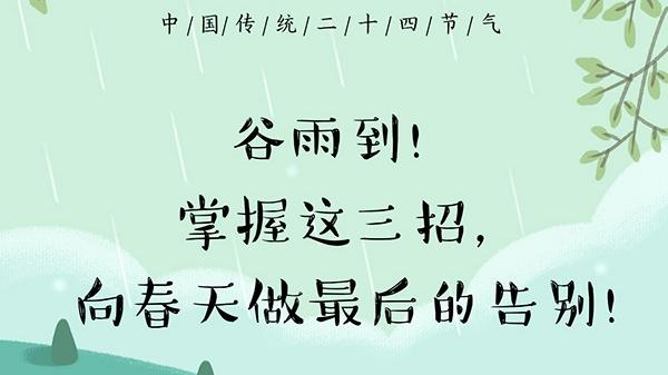 今日谷雨!掌握这三招,向春天做最后的告别!