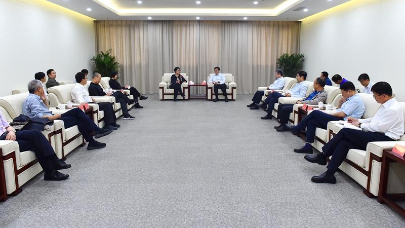 北京市政协副主席杨艺文一行到雄安新区考察