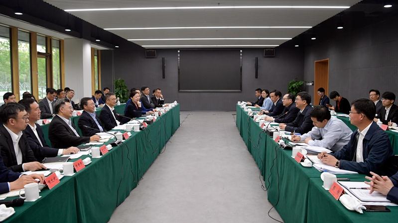 中国工商银行党委书记陈四清、行长谷澍一行到雄安新区考察