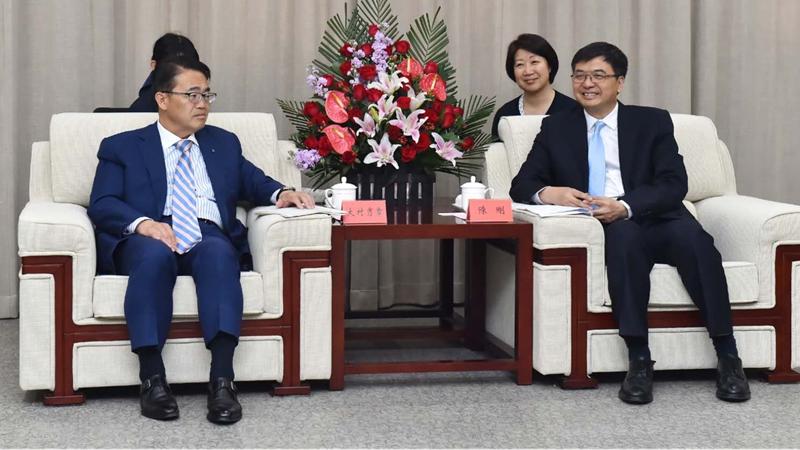 视频丨日本爱知县知事大村秀章率团访问雄安新区