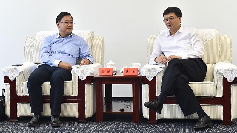 中关村发展集团总经理宣鸿一行到雄安新区考察