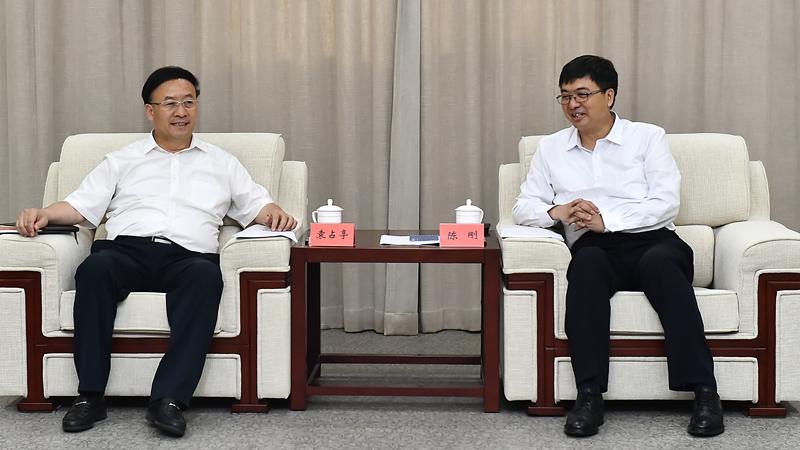 兰州大学党委书记袁占亭、校长严纯华一行到雄安新区考察