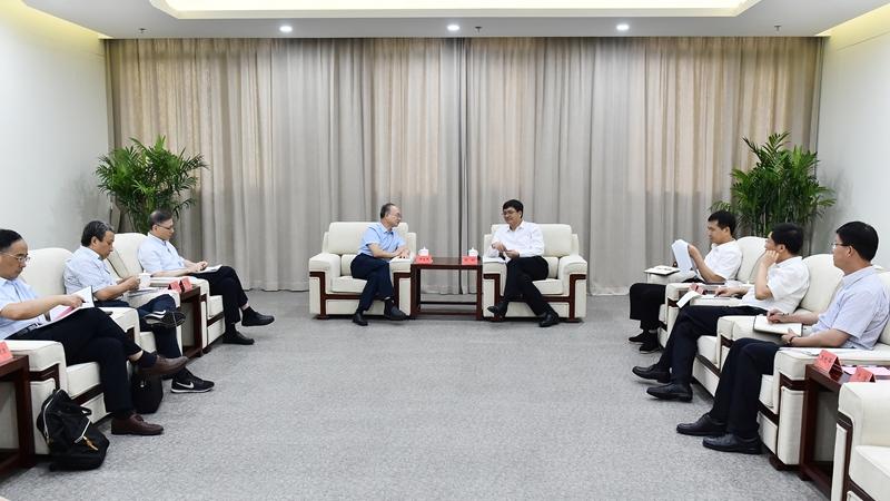 中国地质调查局局长钟自然一行到雄安新区调研
