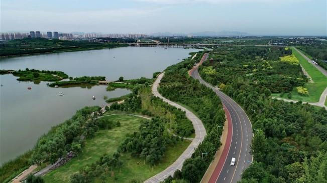 河北石家庄:滹沱河生态治理现美景