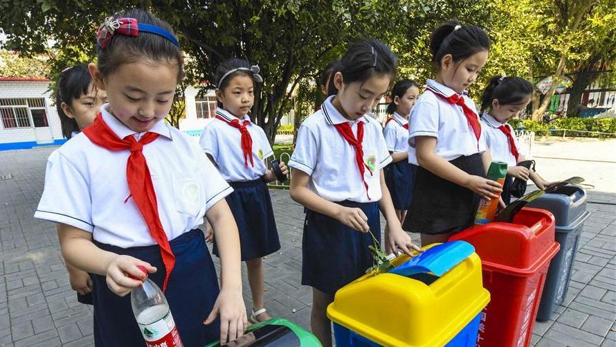 河北文安:垃圾分类进校园