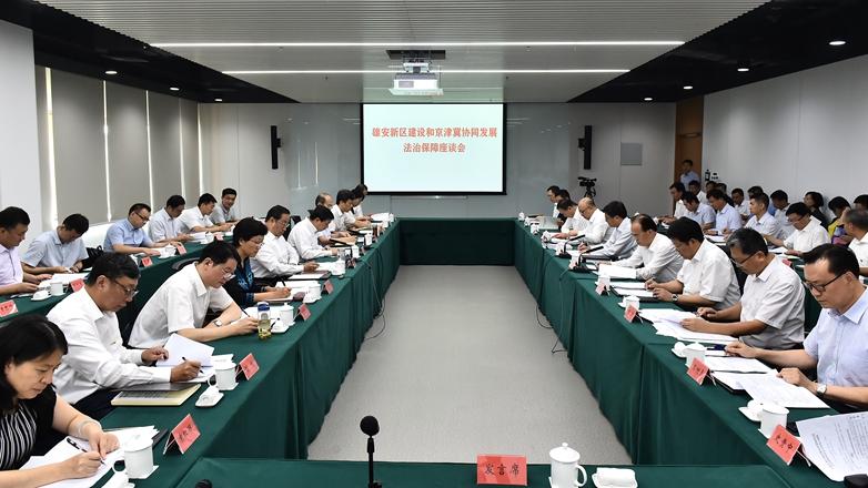 雄安新区建设和京津冀协同发展法治保障座谈会召开