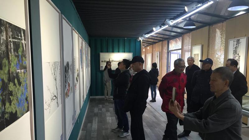"""雄安新区中国书画名家精品巡回展""""在容城开幕"""