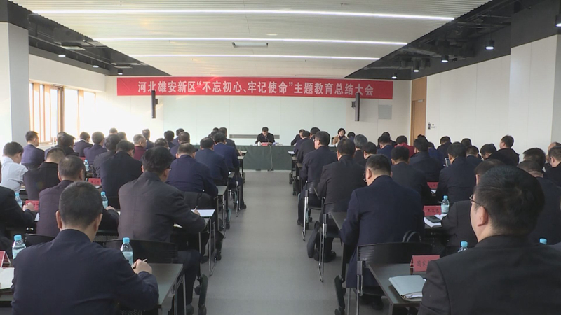"""视频丨雄安新区召开""""不忘初心、牢记使命""""主题教育总结大会"""
