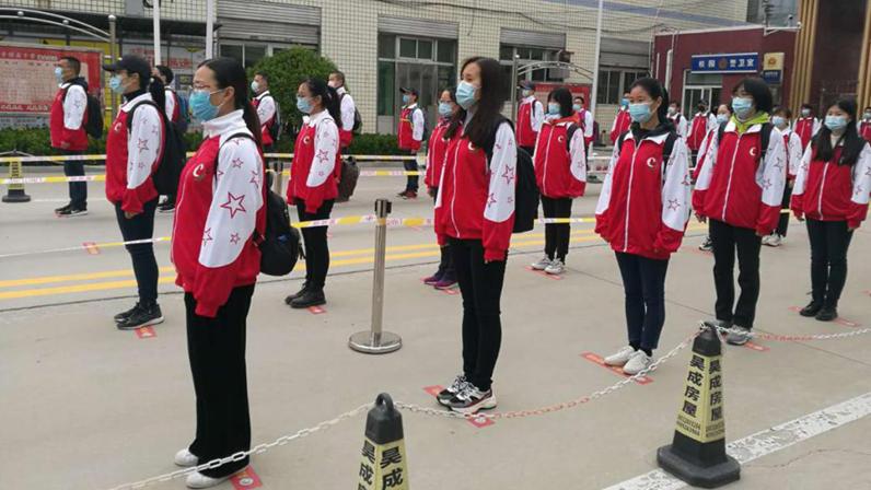 雄安新区组织开展高三年级开学疫情防控应急演练