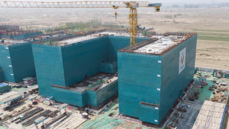 图集丨北京第四中学雄安校区项目高中部教学楼完成主体结构封顶