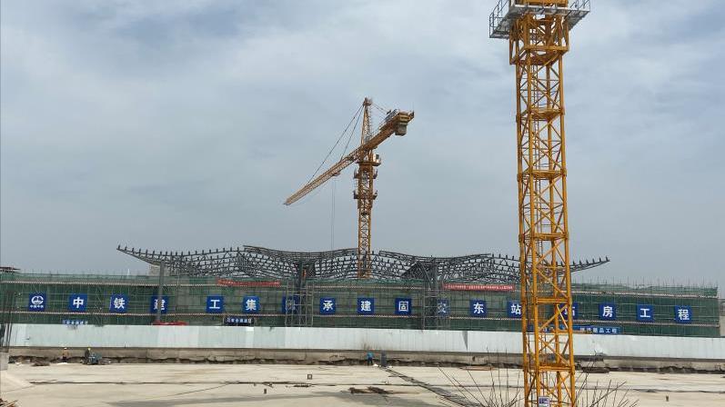 京雄城际铁路霸州北站、固安东站钢结构吊装全部完成