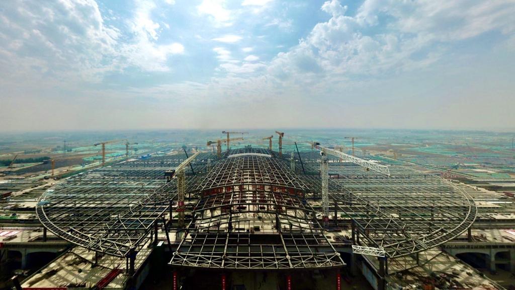 微视频丨京雄城际铁路雄安站京雄车场主体完工