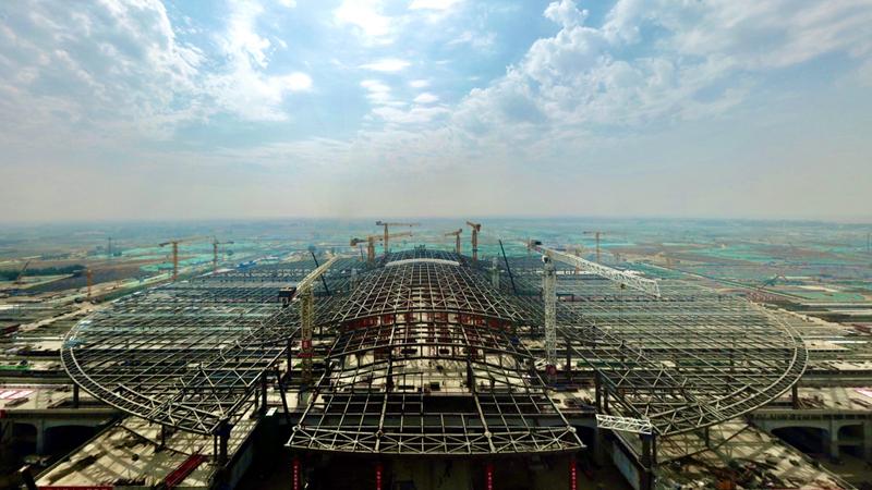 京雄城际铁路雄安站京雄车场主体完工 预计2020年底投入使用