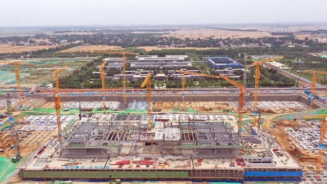 【高清图】雄安商务服务中心项目热火朝天忙建设