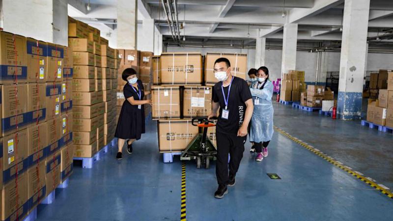 """直击""""疫""""线丨安新县疫情防护物资储备充足 能够确保足量供应"""