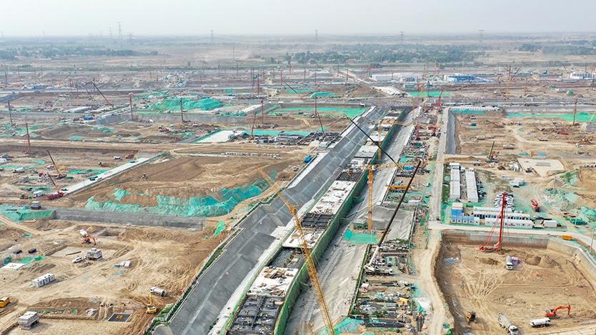"""雄安新区容东片区综合管网工程建设""""如火如荼"""""""