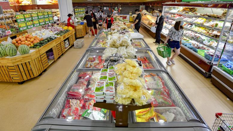 雄安新区安新县蔬菜米面等生活必需品供应充足价格稳定
