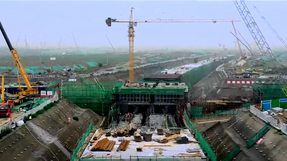 震撼!容东片区综合管廊项目最新建设现场来啦