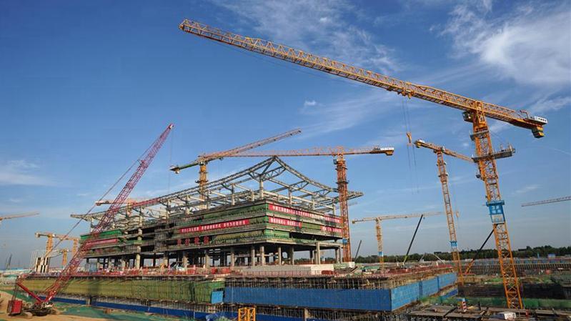 雄安商务服务中心会展中心主体结构即将封顶