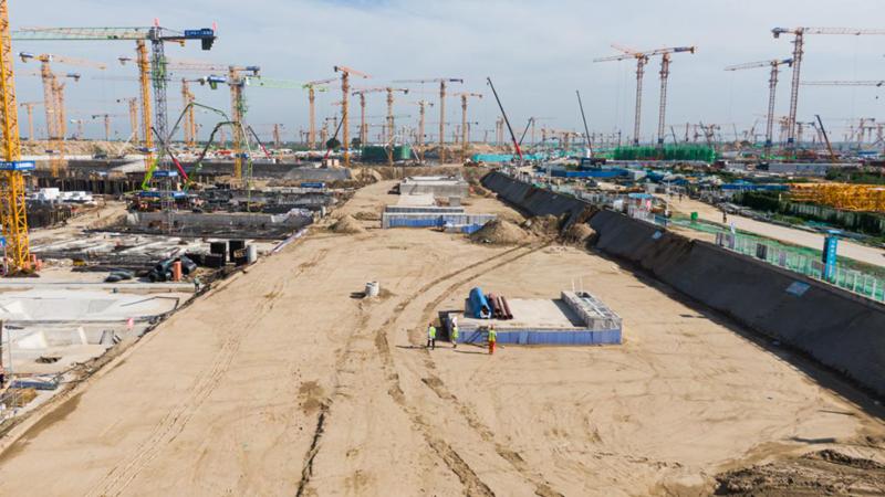 看建雄安丨容东综合管廊四标收尾,进入道路施工阶段