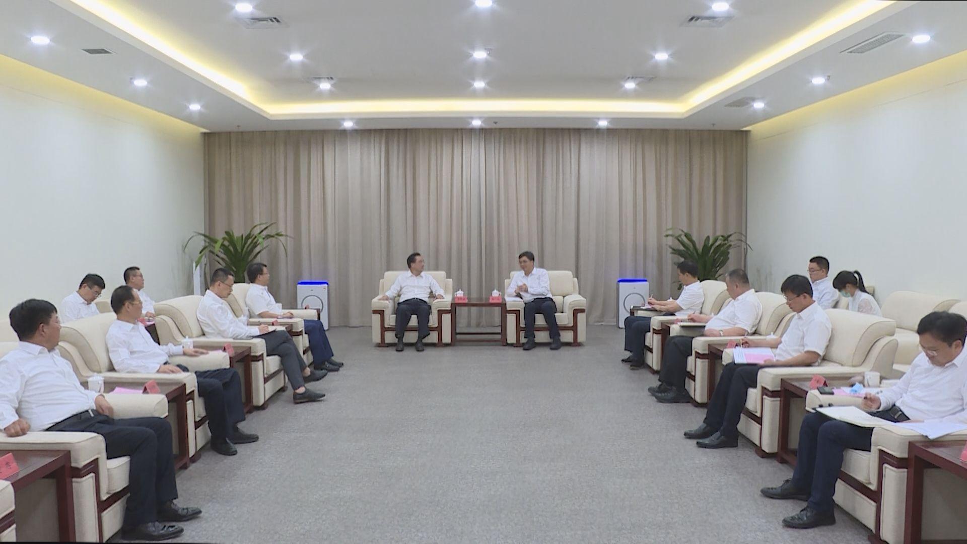 陈刚与华夏银行董事长李民吉一行举行工作座谈