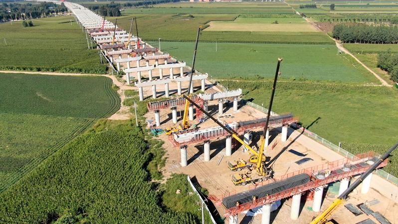 京雄高速SG5标段盖梁施工全部完成