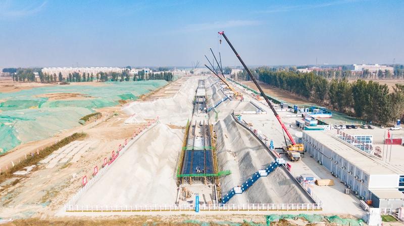 看建雄安丨雄安新区NA11市政道路项目综合管廊工程有序推进