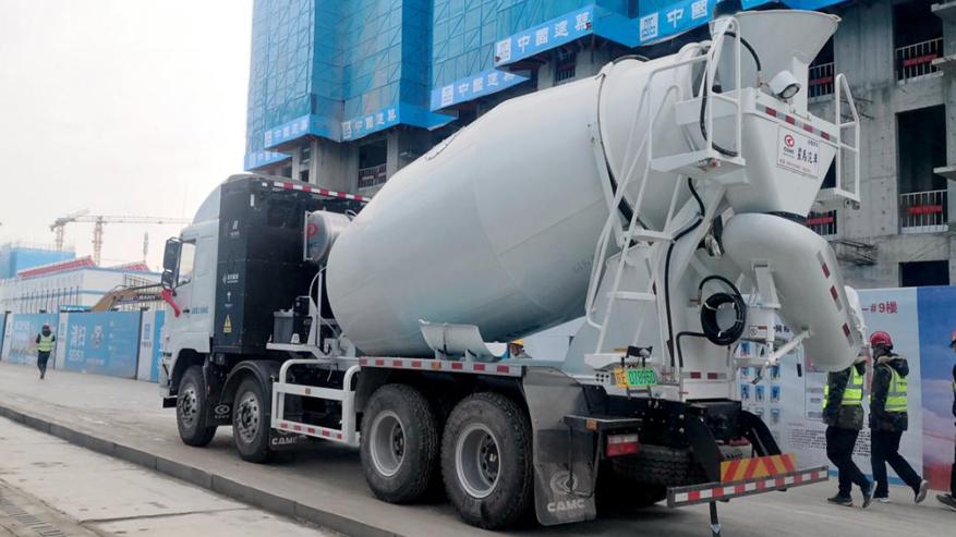 好消息!新能源混凝土搅拌车助力雄安绿色施工