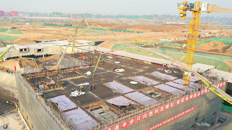 看建雄安丨雄安新区河西110千伏变电站工程主体结构封顶