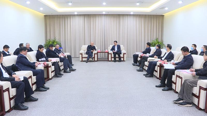 视频丨陈刚与中国铁路工程集团有限公司董事长陈云一行举行工作座谈