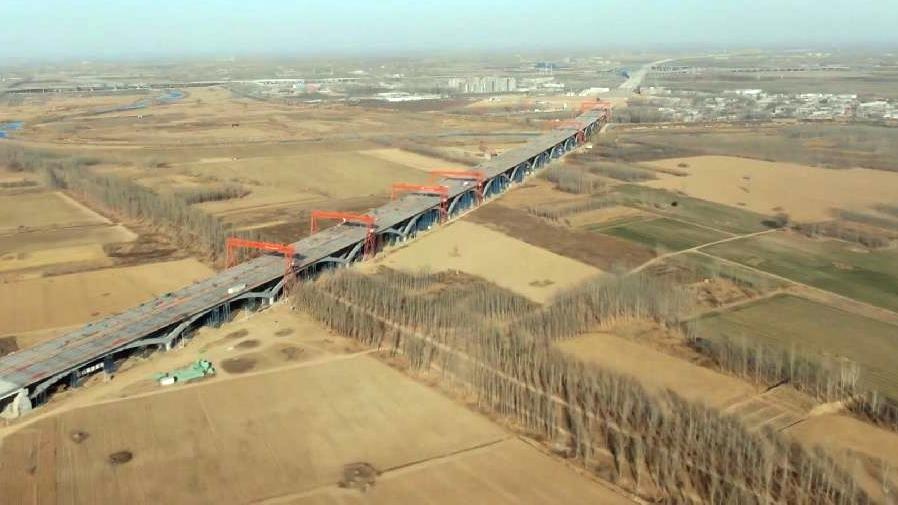 京雄高速白沟河特大桥主体完工