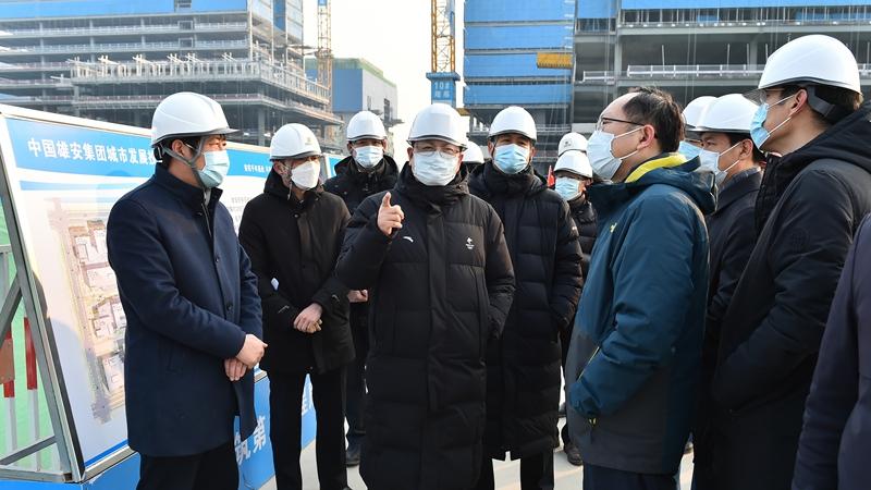 张国华在容东片区调研市场化项目
