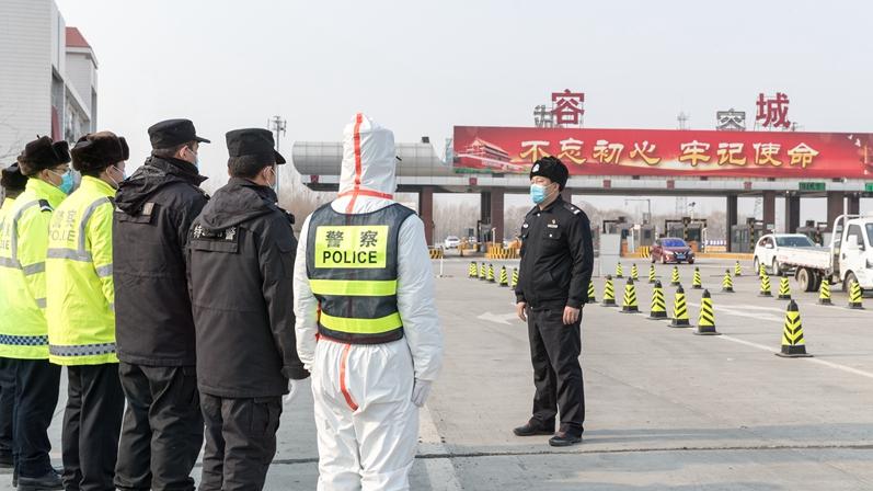 """图集丨容城县公安局""""行动党支部""""建在防控一线"""