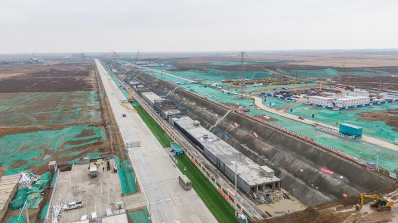 看建雄安丨雄安新区启动区EA2路(NA8-NA9段)工程最近进展来了