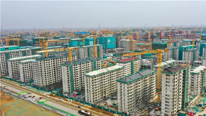 河北雄安新区:容东片区安置房建设有序推进