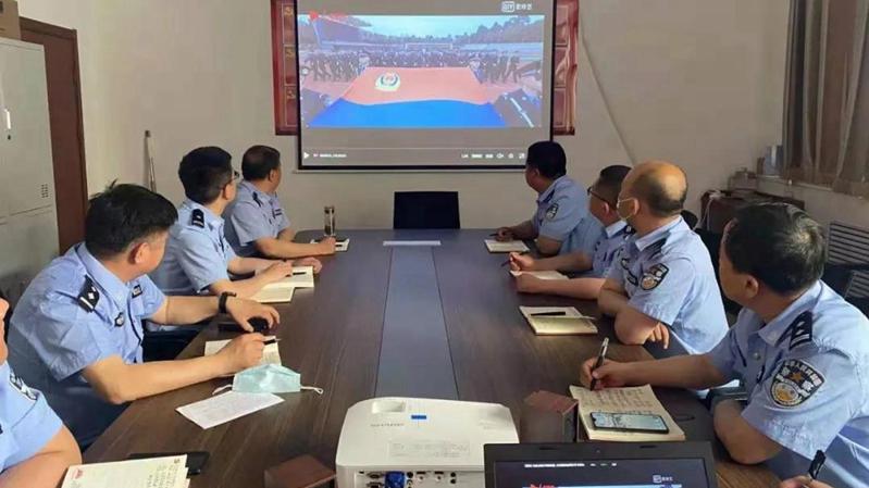 容城县公安局积极组织基层党支部开展主题党日活动
